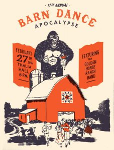 The 11th Annual Barn Dance Apocalypse poster by Ryan Duggan